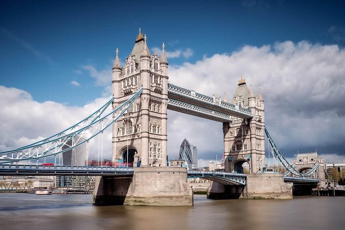 Long exposure Tower Bridge London UK