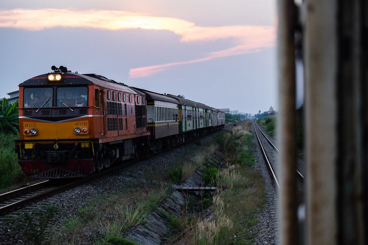 Travel photos | Another train next to us. Thailand.