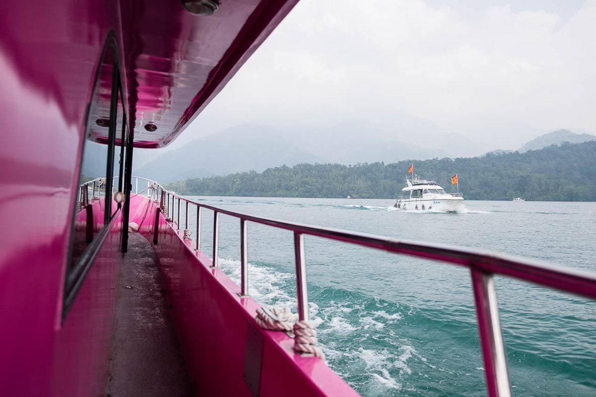Ferryboat to Ita Thao (Yi Da Shao). Sun Moon Lake, Taiwan.