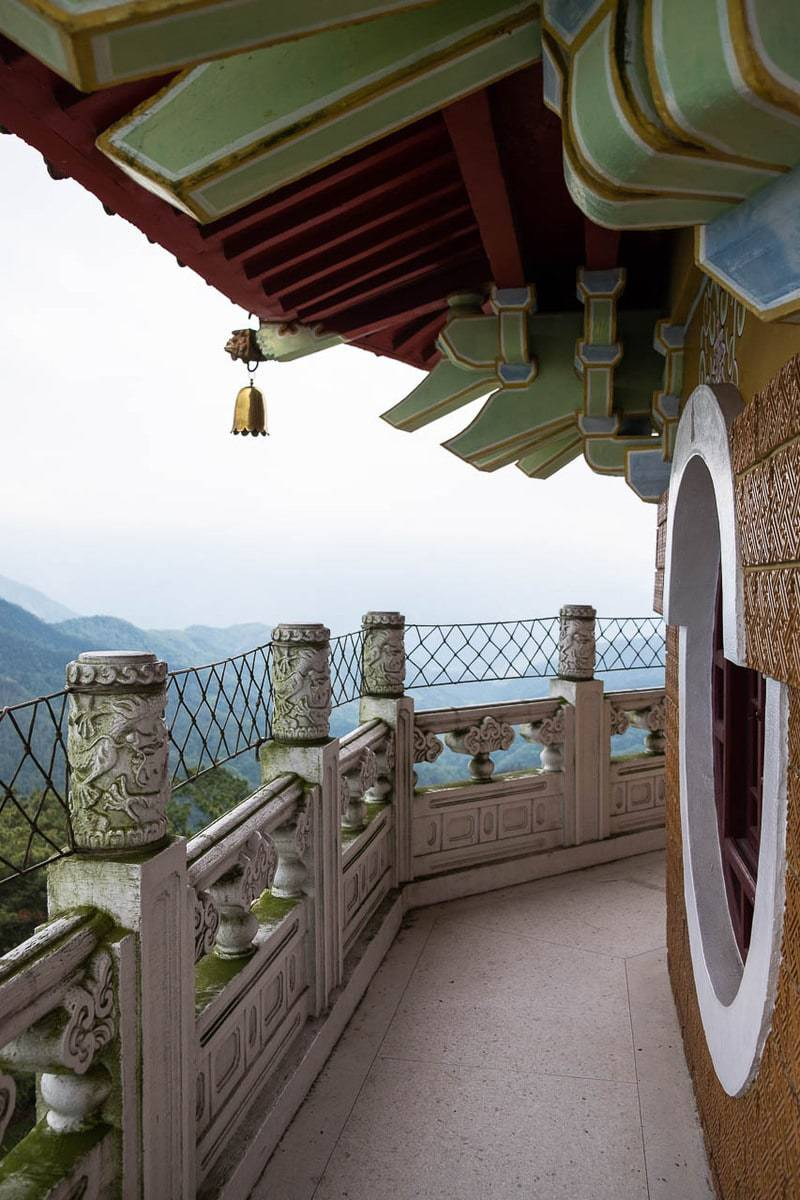 View from the top of Ci En Pagoda. Sun Moon Lake, Taiwan.