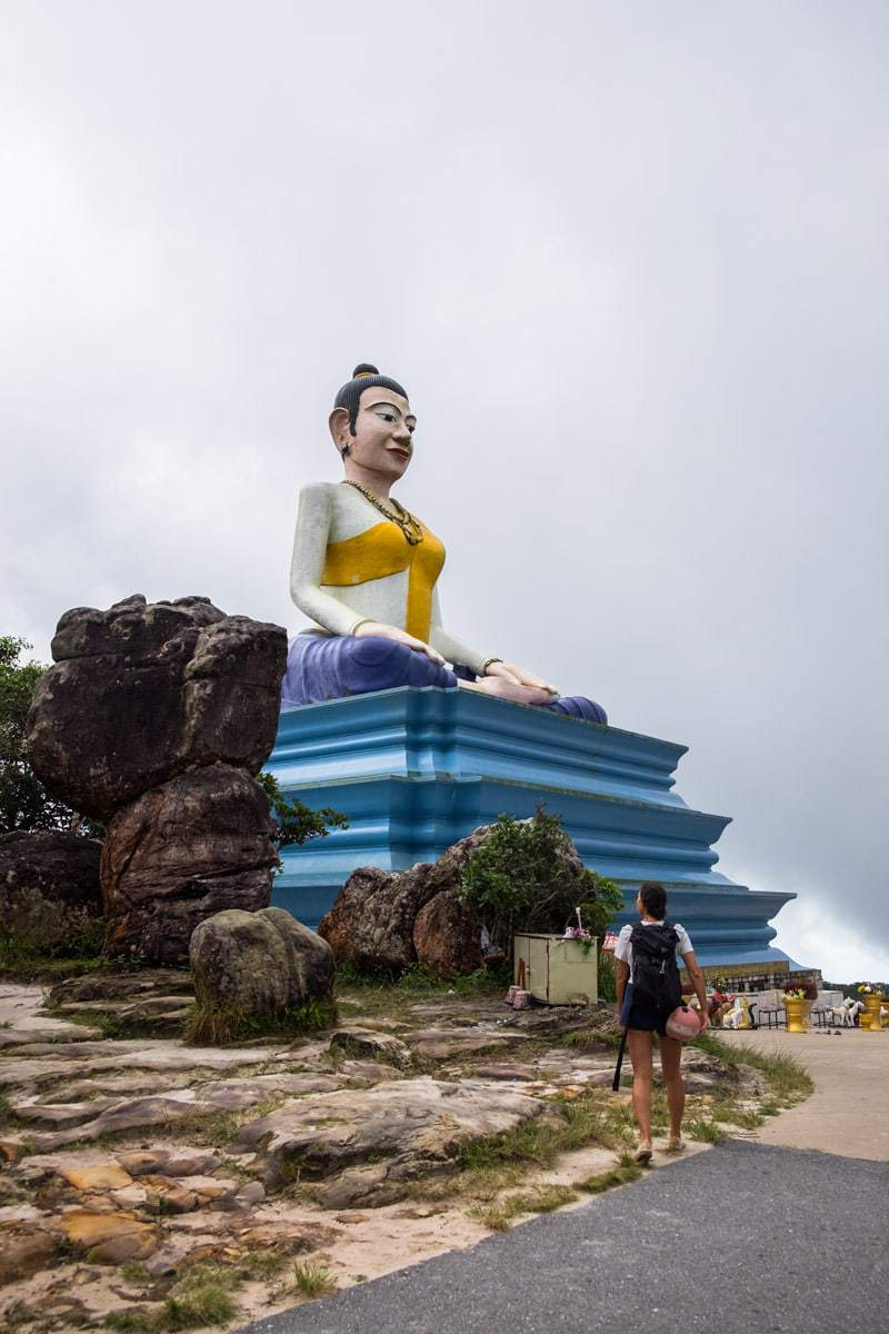 Lok Yeay Mao statue at Bokor Mountain. Kampot, Cambodia.