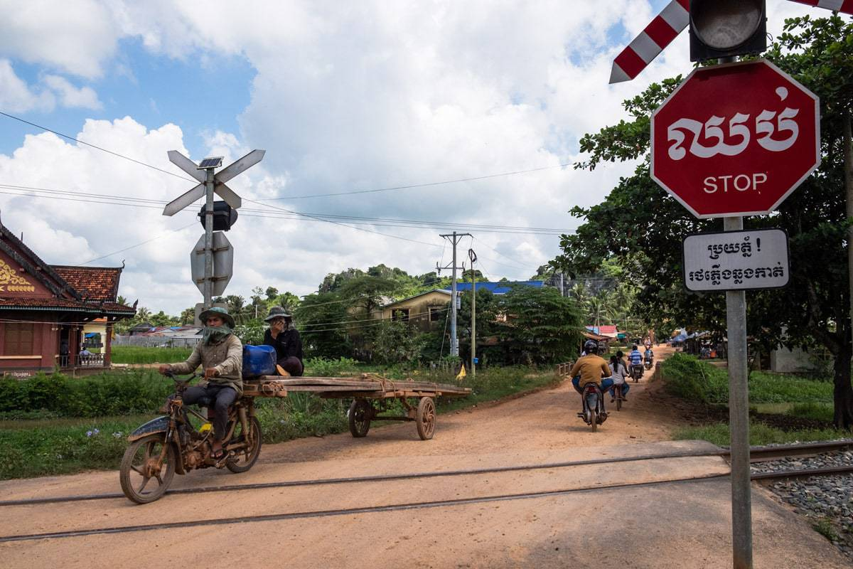 Level crossing. Kampot, Cambodia.