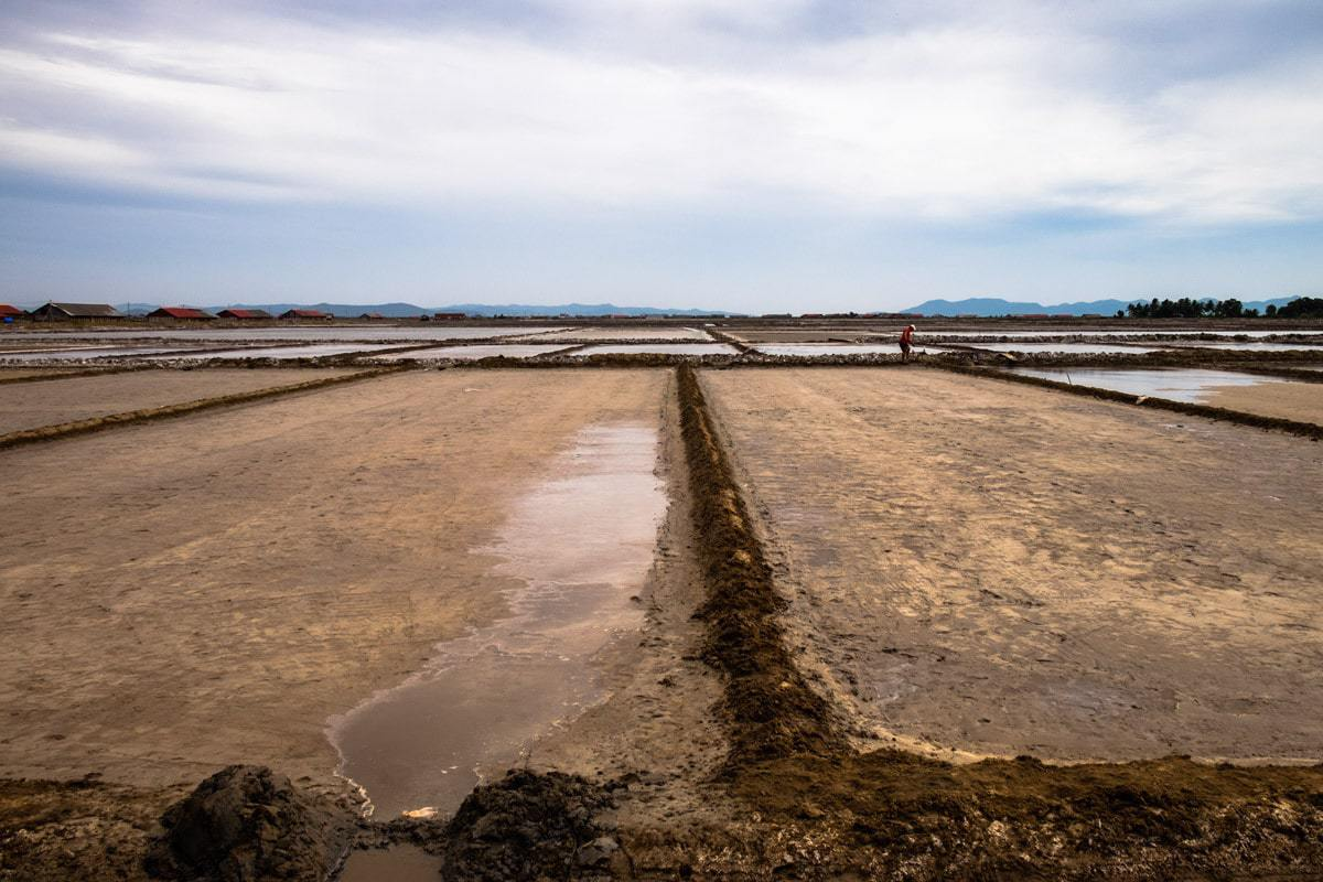 Salt fields. Kampot, Cambodia.
