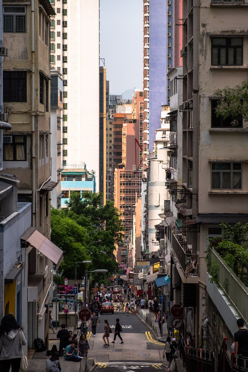 Street on Hong Kong Island.