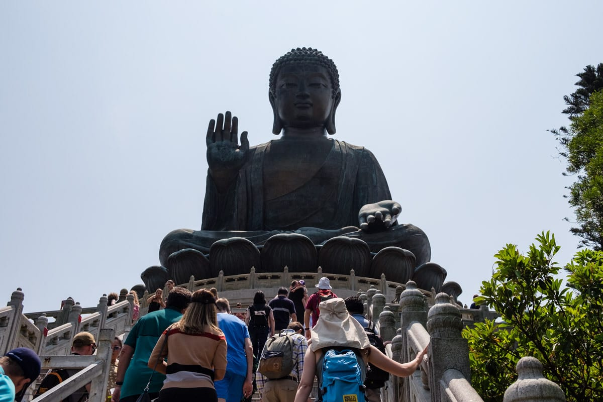The Big Buddha. Ngong Ping Village. Lantau Island, Hong Kong.