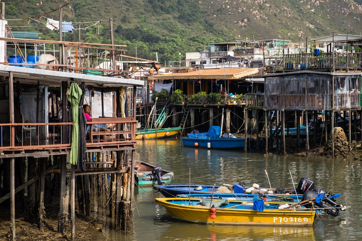 Fishing village Tai O. Lantau Island, Hong Kong.