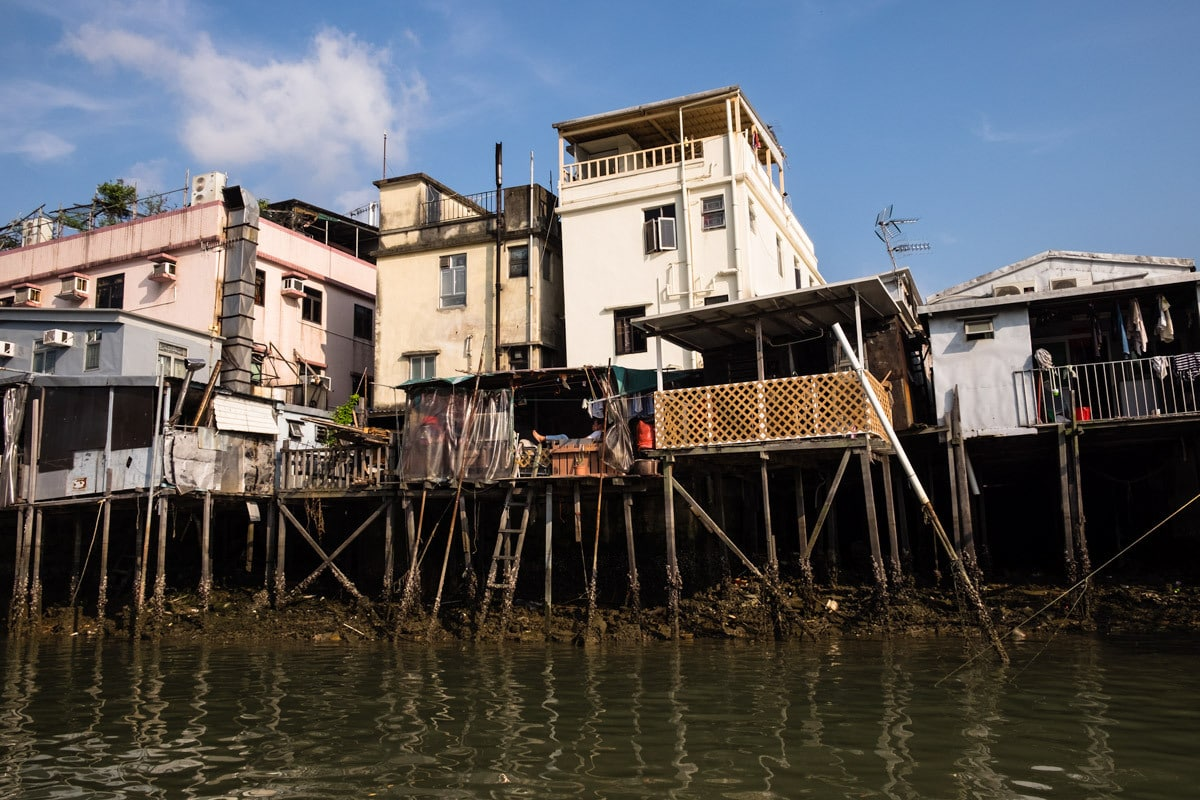 Stilt houses. The fishing village Tai O. Lantau Island, Hong Kong.