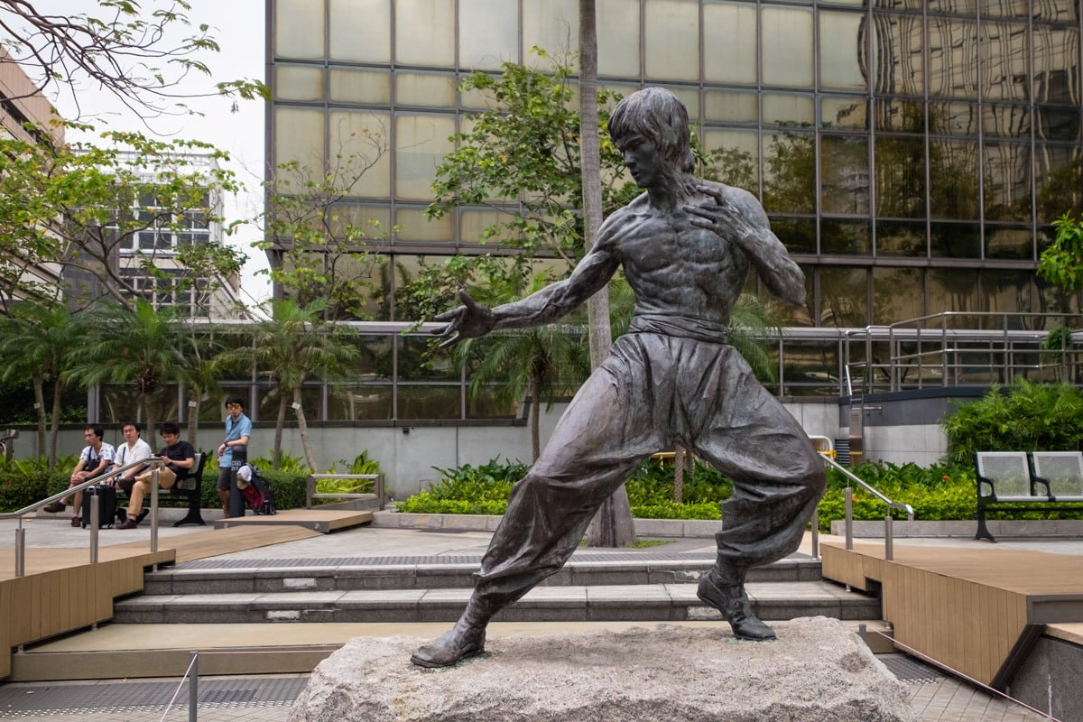 The legend - Bruce Lee. Garden of Stars. Hong Kong.
