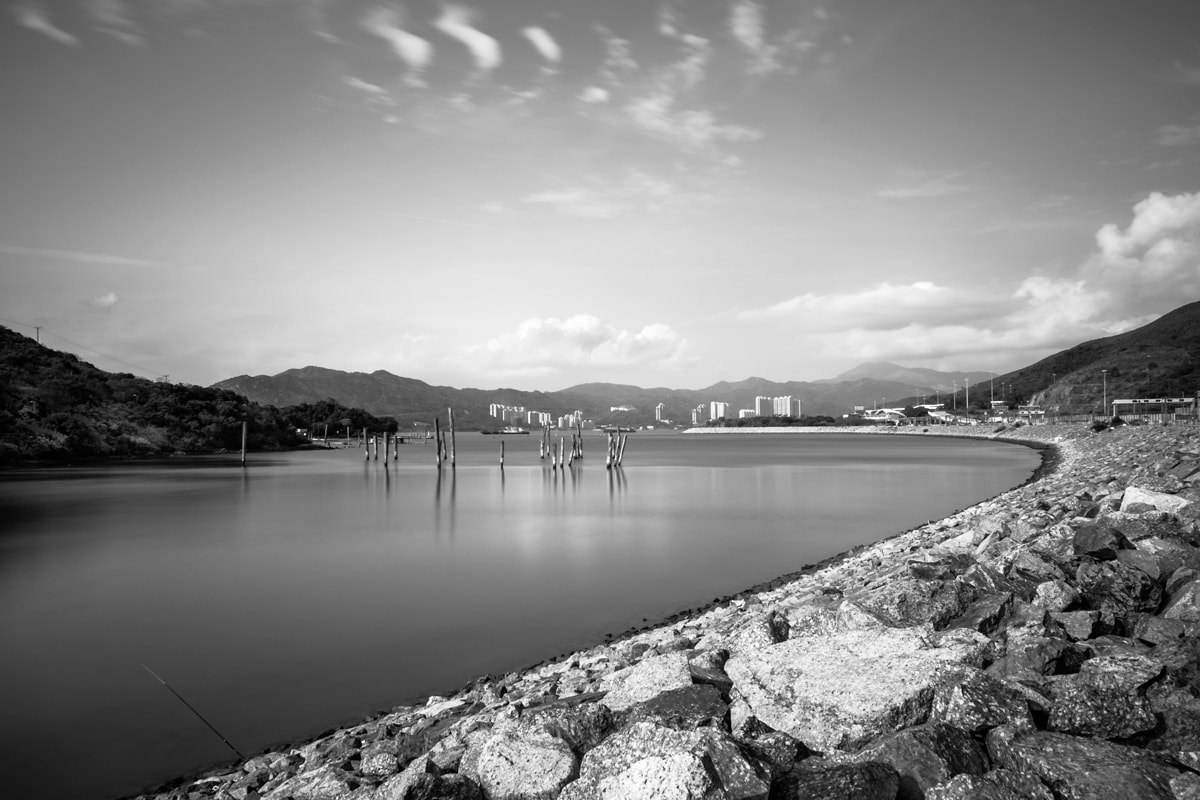 Long exposure at Sunny Bay. Lantau Island, Hong Kong.