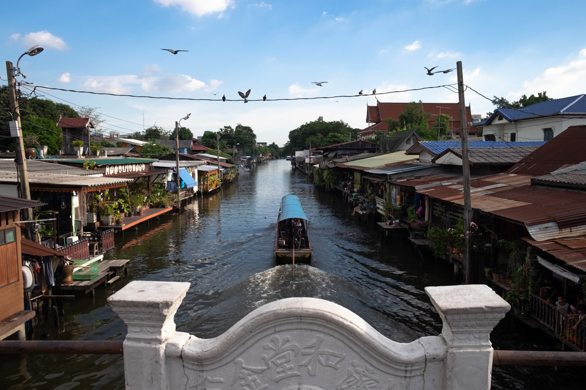 Tourist long-tail boat on Bang Luang Canal.