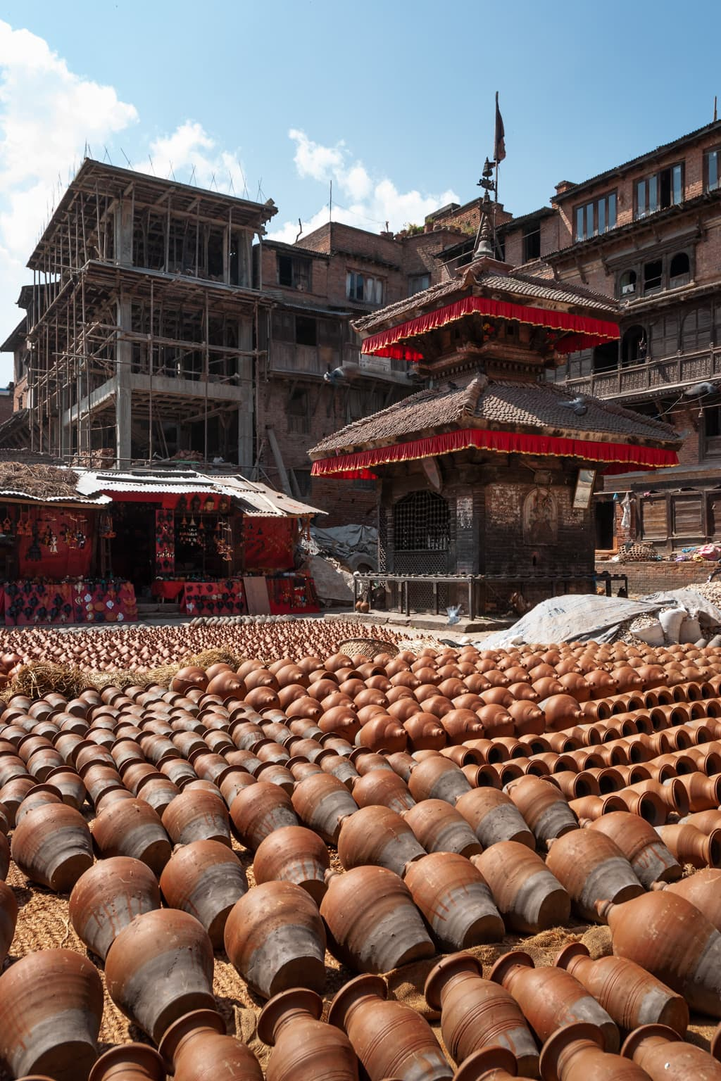 Pottery Square in Bhaktapur. Kathmandu Valley, Nepal.