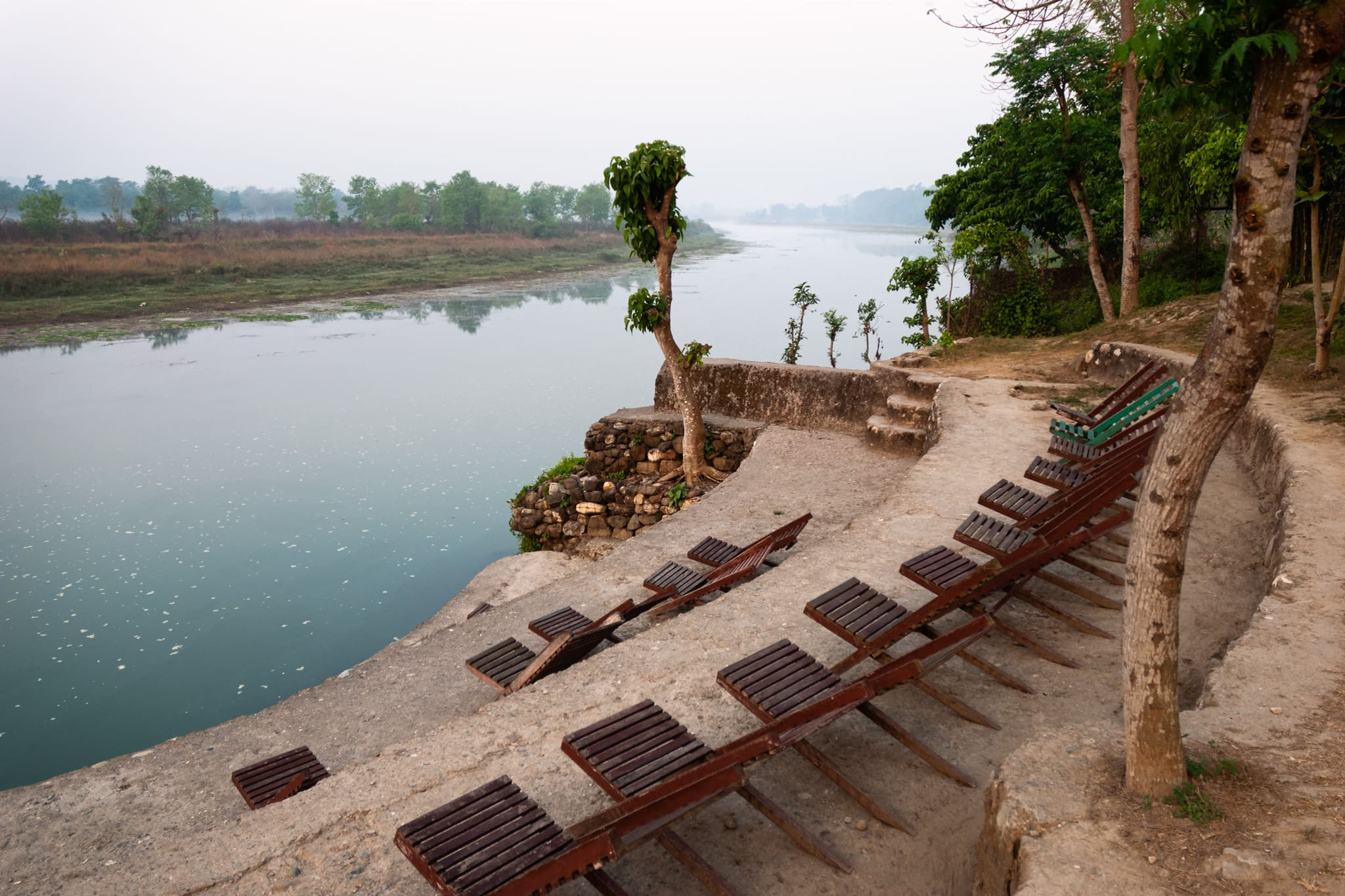 Narayani River, Chitwan National Park. Chitwan Riverside Resort, Nepal.